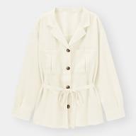 オープンカラーダブルポケットシャツ(長袖)(セットアップ可能)