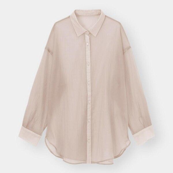 シアーロングシャツ(長袖)-PINK