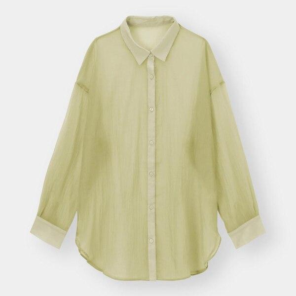 シアーロングシャツ(長袖)-LIGHT GREEN