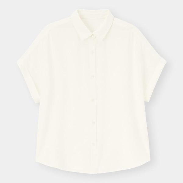 エアリーシャツ(半袖)-WHITE