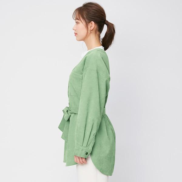 コーデュロイオーバーサイズシャツ(長袖)