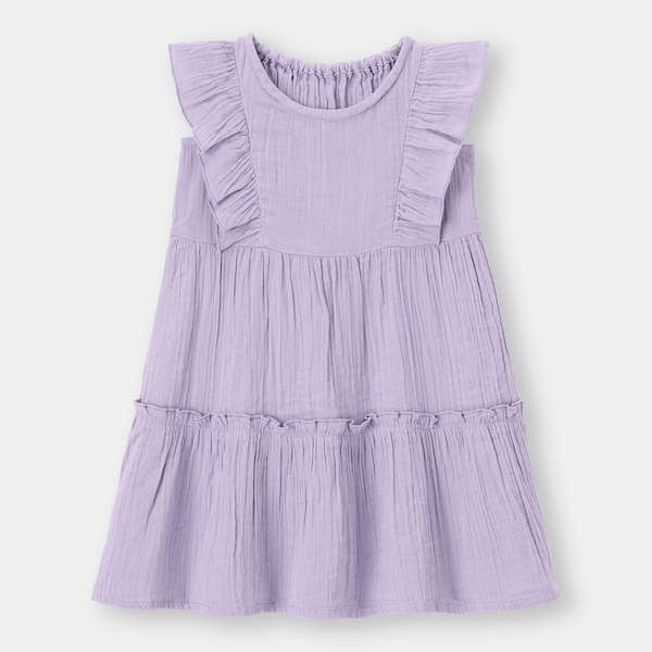 BABY(TODDLER)GIRLSティアードワンピース+E-PURPLE