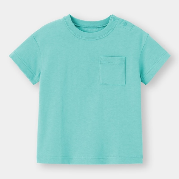 BABY(TODDLER)コットンクルーネックT(半袖)+E-BLUE