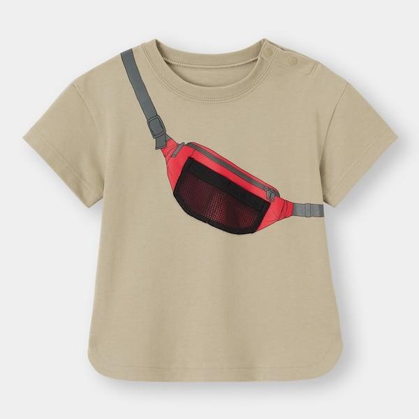 BABY(TODDLER)BOYSバッグモチーフT(半袖)+E-BEIGE