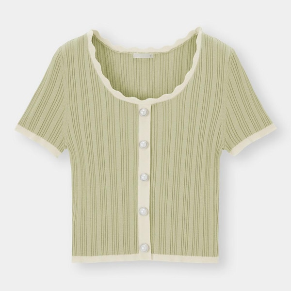 バイカラーセーター(半袖)OSQ+EC-GREEN