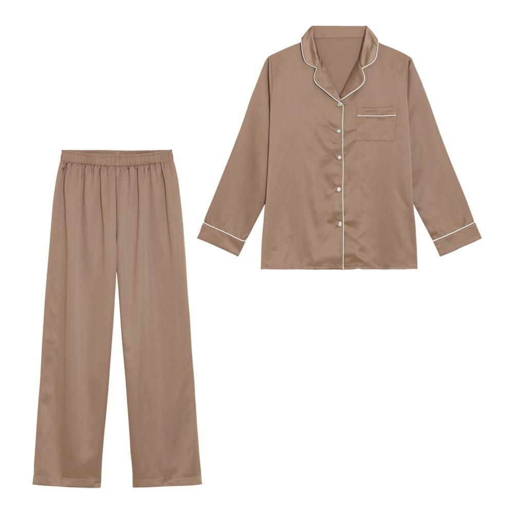 (GU)サテンパジャマ(長袖)