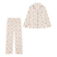 サテンパジャマ(長袖)(チェリー)