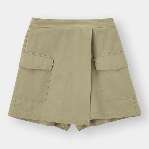 ポケット付きスカートパンツYG+E-OLIVE