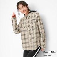 GIRLSフード付きオーバーサイズシャツ(長袖)JR+X