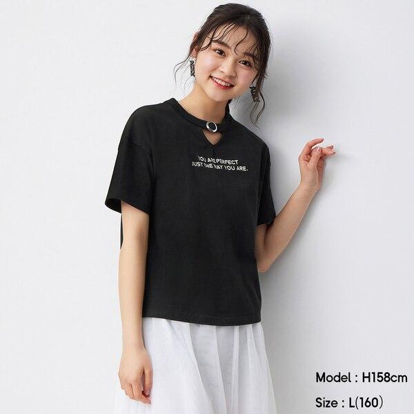 GIRLSチョーカーT(半袖)JR+X-BLACK