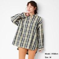 チェックオーバーサイズシャツ(長袖)SD+E