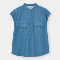 コットンダブルポケットシャツ(半袖)SD+E(セットアップ可能)