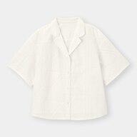 エンブロイダリーオープンカラーシャツ(5分袖)SD+X