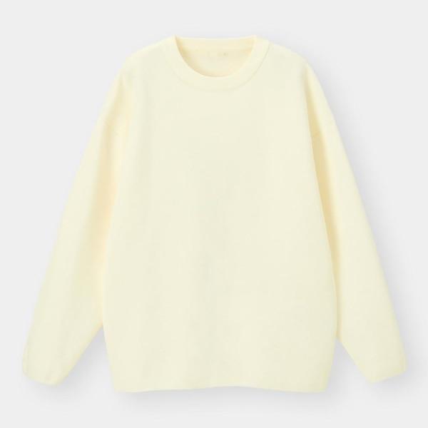 ミラノリブクルーネックセーター(長袖)-OFF WHITE