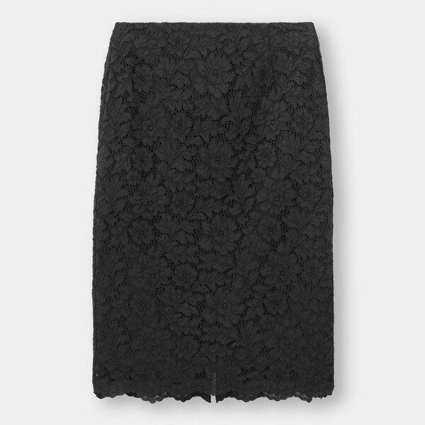 レースタイトスカート+E-BLACK