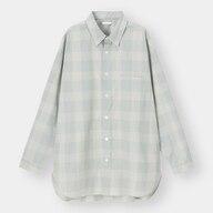 ブロードオーバーサイズシャツ(長袖)(チェック)