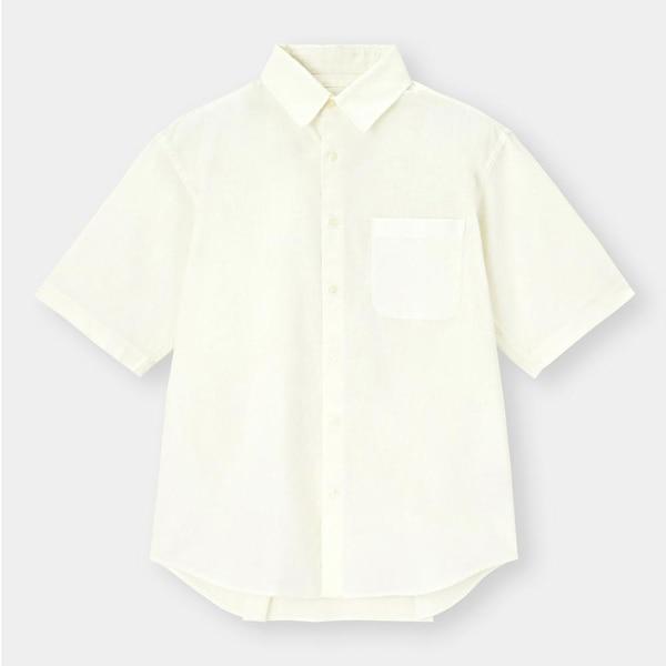 リネンブレンドシャツ(5分袖)+X-WHITE