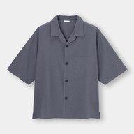 ドライワイドフィットオープンカラーシャツ(5分袖)(セットアップ可能)