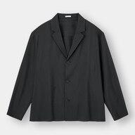 ドライワイドフィットシャツジャケット(長袖)+X(セットアップ可能)