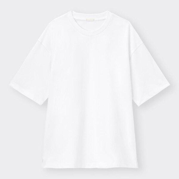 ドライポンチビッグT(5分袖)-WHITE