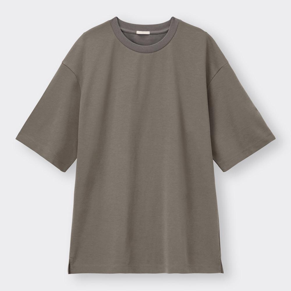 (GU)ドライポンチビッグT(5分袖)
