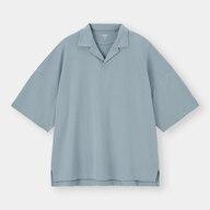 ドライポンチオープンカラーポロシャツ(5分袖)NT+E