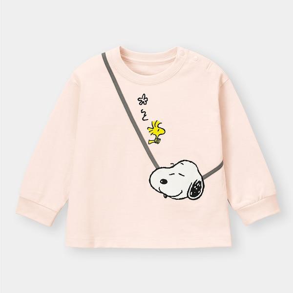 BABY(TODDLER)GIRLSグラフィックT(長袖)Peanuts +E-PINK