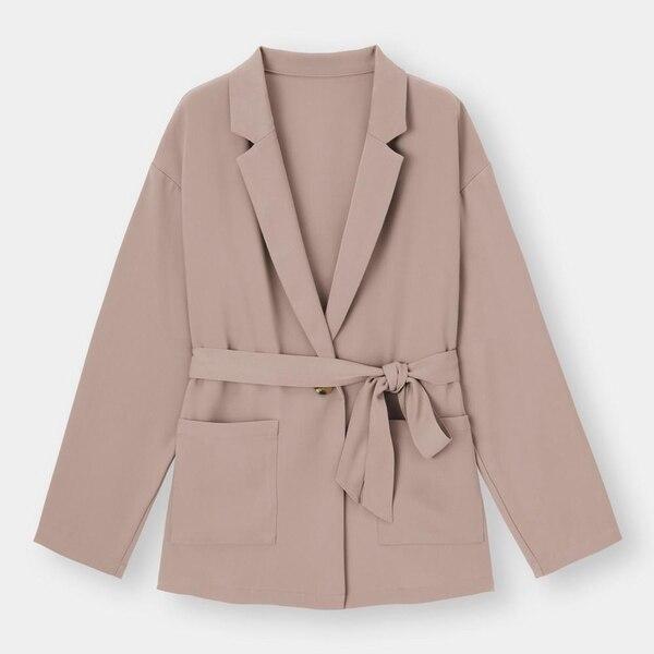 オーバーサイズシャツジャケット(長袖)(セットアップ可能)-BROWN