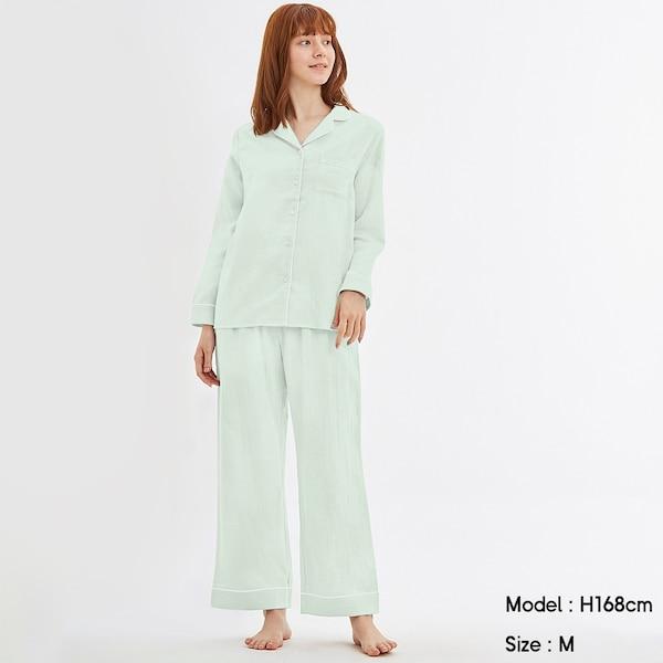 オーガニックコットンパジャマ(長袖)-LIGHT GREEN