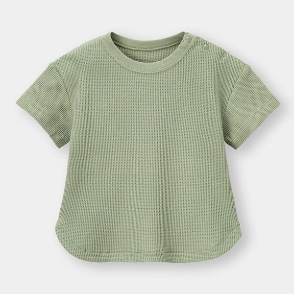 BABY(TODDLER)ワッフルクルーネックT(半袖)+E-OLIVE