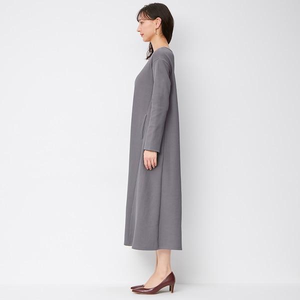 リブAラインワンピース(長袖)