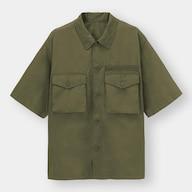 ミリタリーオーバーサイズシャツ(5分袖)+X