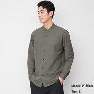 カットソーバンドカラーシャツ(長袖)CL+X