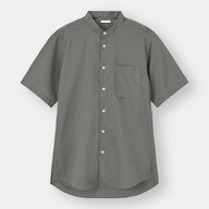 イージーケアバンドカラーシャツ(半袖)CL+X