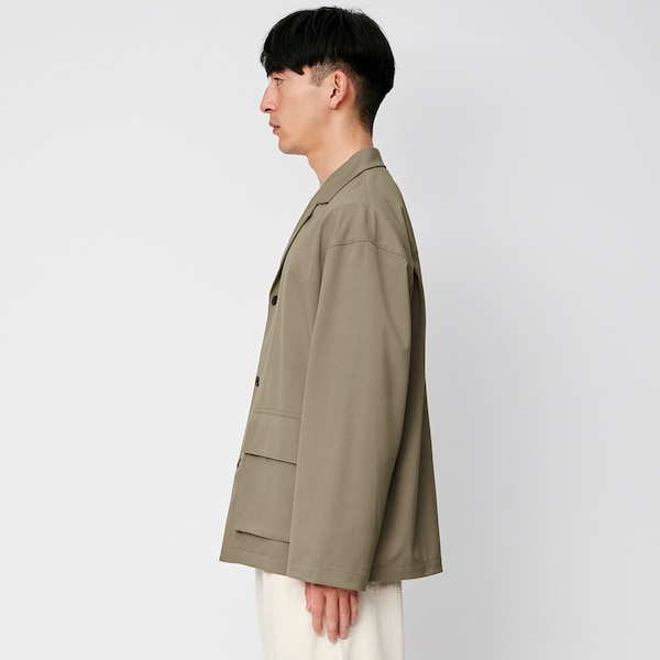 オーバーサイズシャツブルゾン(長袖)Q(セットアップ可能)