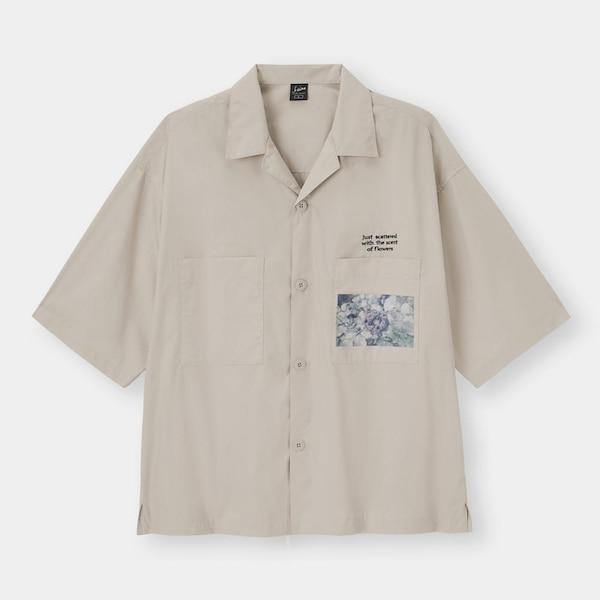 オープンカラーシャツ(5分袖)Keina Suda 1-GRAY