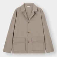 リネンブレンドシャツジャケット(長袖)+E