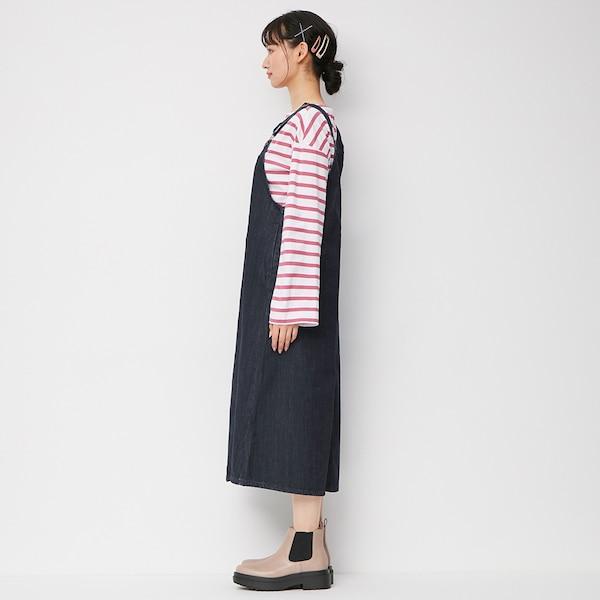 デニムジャンパースカート+X