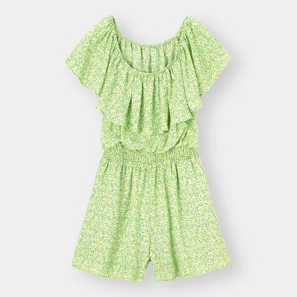 プリントミニジャンプスーツ(半袖)YG+E-GREEN