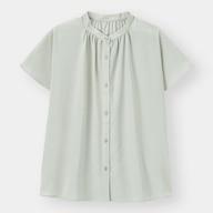 エアリーバンドカラーシャツ(半袖)