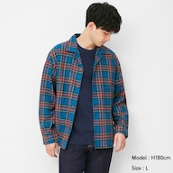 フランネルシャツジャケット(長袖)(タータンチェック)