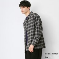 フランネルシャツジャケット(長袖)(チェック)