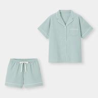 オーガニックコットンワッフルパジャマ(半袖&ショートパンツ)