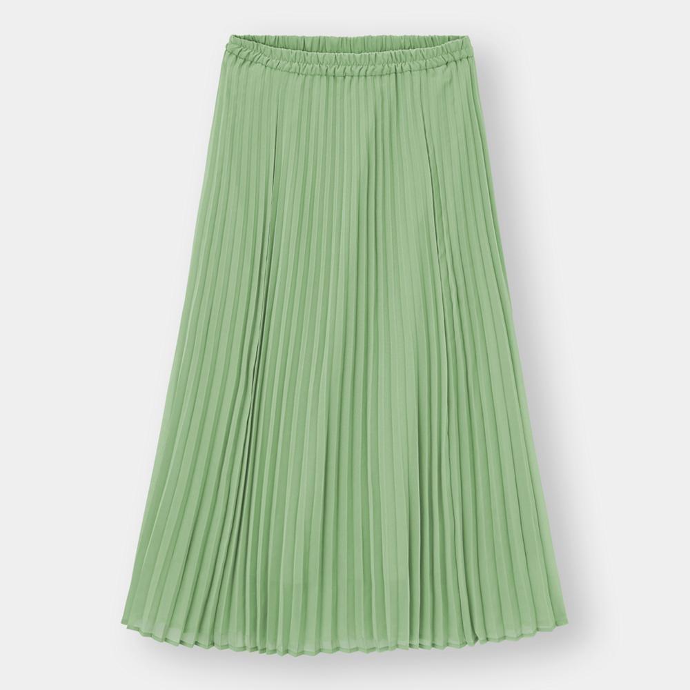 (GU)プリーツロングスカート