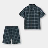 オーガニックコットンシアサッカーパジャマ(半袖)+EC