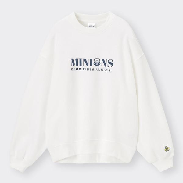 グラフィックスウェットプルオーバー(長袖)We Want Minions Collection +X-OFF WHITE
