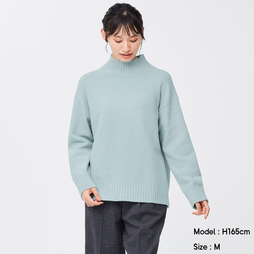 (GU)パフィータッチオーバーサイズハイネックチュニック(長袖)