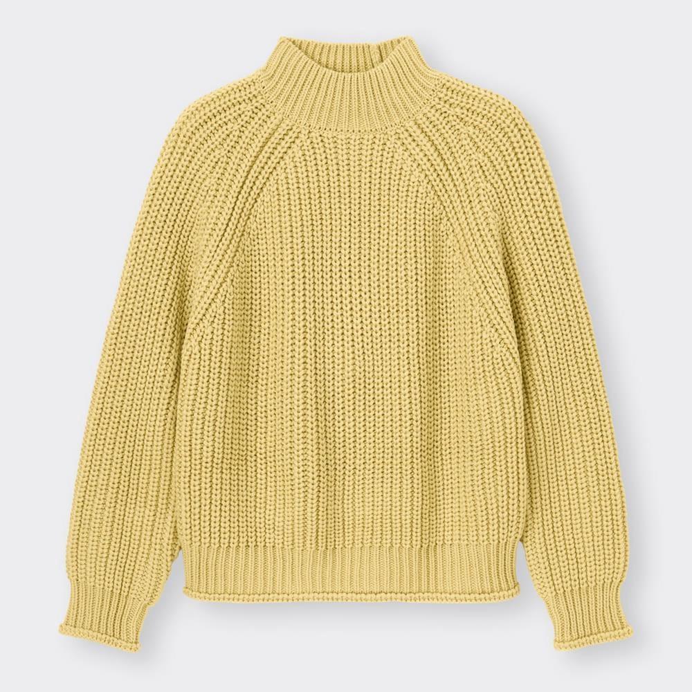 (GU)チャンキーニットハイネックセーター(長袖)