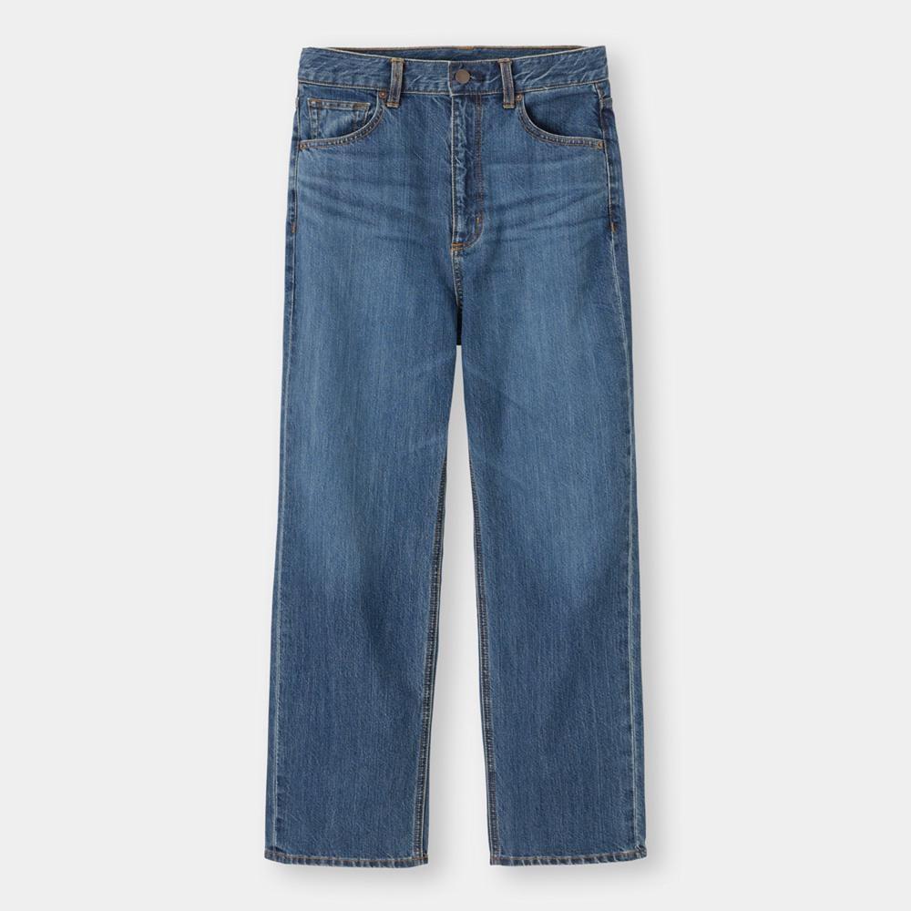 (GU)ハイウエストストレートジーンズ(丈標準68~72cm)