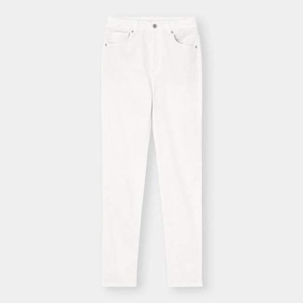 ハイウエストスキニーパンツ(丈標準74cm)-OFF WHITE